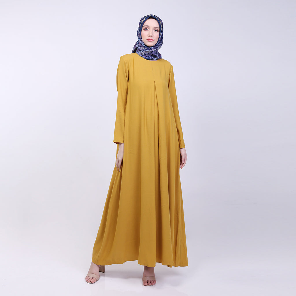 Aryana Mustard Basic Dress