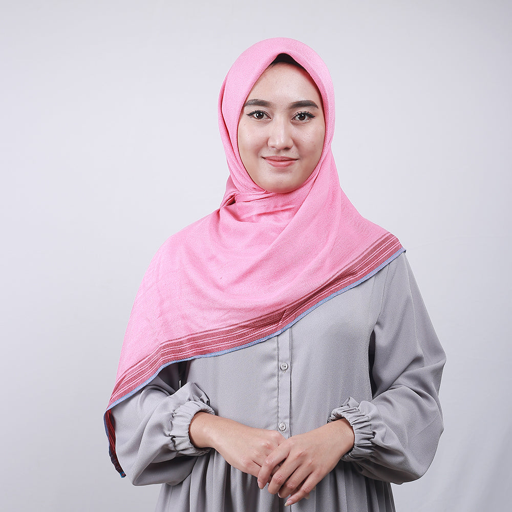 Shafira Listed Scarf Pink