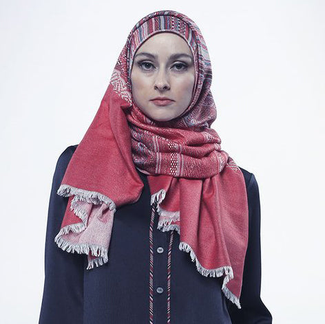 Tribal Pashmina Red