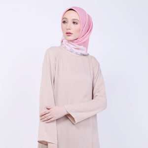 Qanza Cream Basic Dress