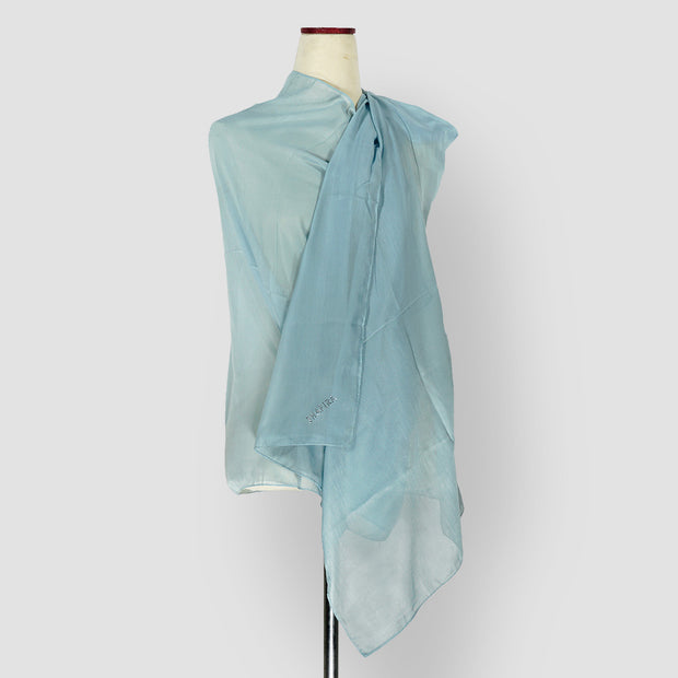 Plain Shawl Blue