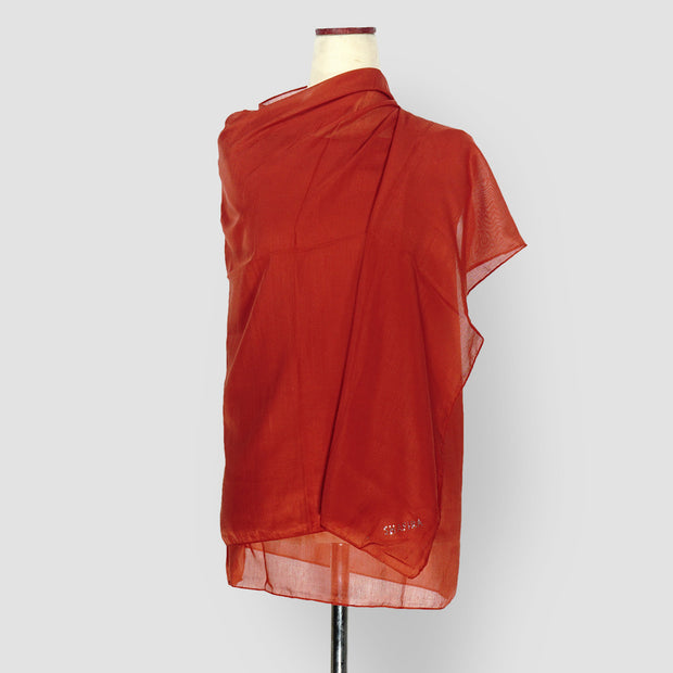 Plain Shawl Red