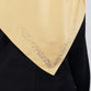 Satin Swarovski Crystals Detail on Border Scarf Yellow