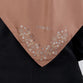 Satin Swarovski Flower Detail on Border Scarf Brown