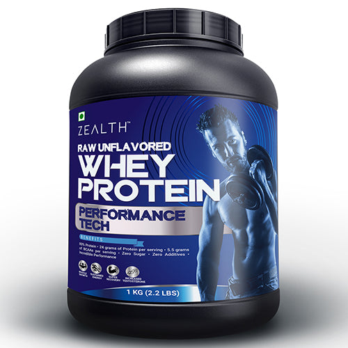 Zealth - Whey Protein Concentrate | 80% Protein | Unflavoured - 1Kg