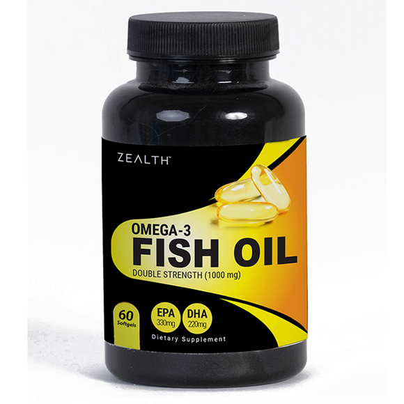 Zealth Omega3 Fish Oil (Double Strength) 300 EPA 200 DHA
