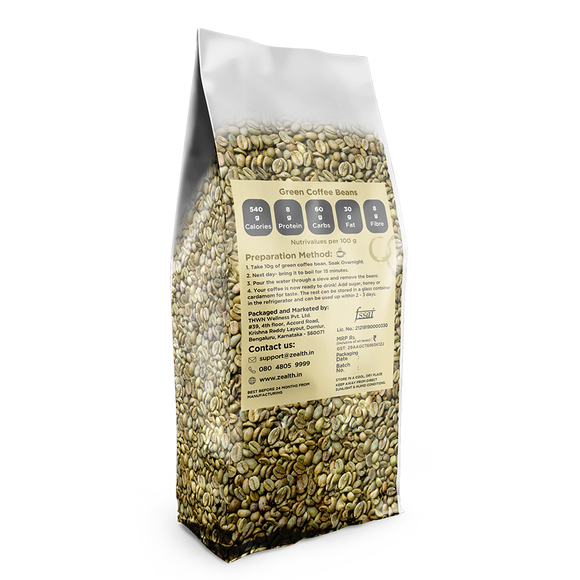 Zealth Green Coffee Beans