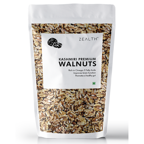 Zealth - Premium Kashmiri Brown Walnuts Kernels | Without Shell