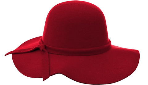Audrey Floppy Hat in Red