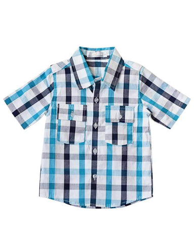 City Slicker Button Down Shirt in Blue