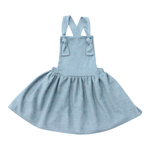 Pinafore Dress in Pale Blue