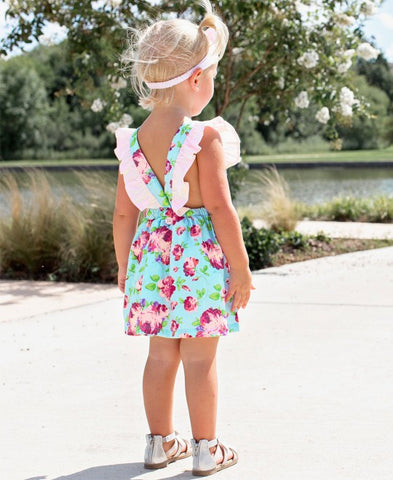 Ruffle Butts Life is Rosy Pinafore Dress