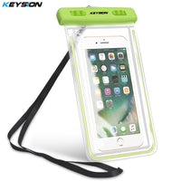 KEYSION Waterproof Bag With Luminous Underwater Pouch Phone Case - GUANCIECOM