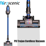 Proscenic P8 Cordless Vacuum Cleaner Lightweight Large Suction Stick Handheld Portable Vacuum 3 in 1