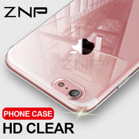 ZNP Ultra Thin Soft Transparent  For iPhone 8 7 Plus Clear Silicone Full Cover - GUANCIECOM