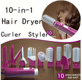 10-in-1 Multifunction Hair Dryer with comb for Travel Professional Hair - GUANCIECOM