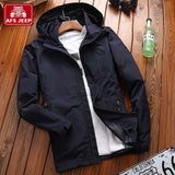 New Brand Spring Autumn Hooded Casual Jacket Men Military Style Windproof Coat Big Size M-5XL - GUANCIECOM