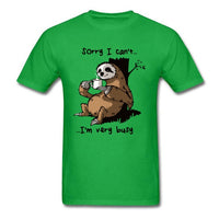 BRADY Very Busy Sloth T Shirt  Cotton Clothes Plus Size