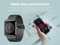 Smart Watch GT08 Material Stainless Steel  Strap Bluetooth Support Sim TF Card Android&IOS