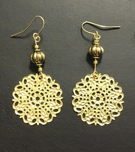 Gold crafted earrings