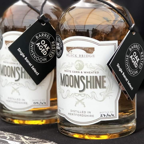 moonshine barrel aged moonshine black bridge distillery