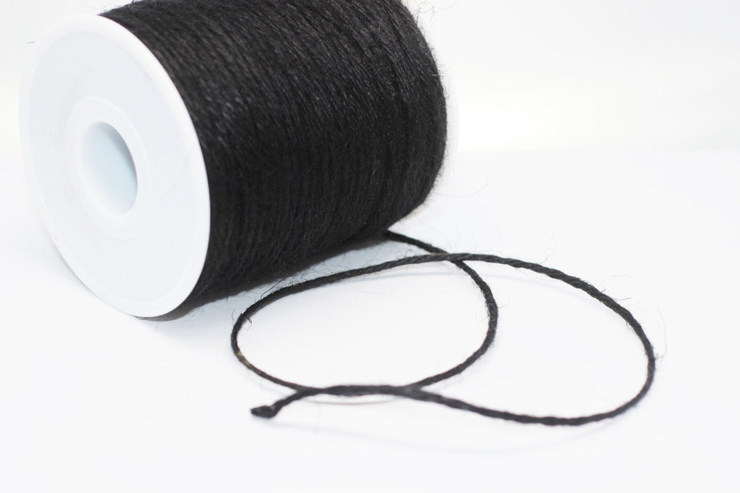 Felt Cord - 1.5 mm / 0.06 inch Wool Felt Cord - Black Beading Cord - Twisted Braid Rope - Jewelry Cord For Jewelry Supplies - Felt Rope