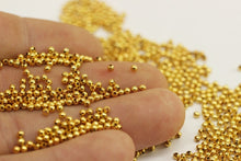 2.5 mm Gold Tone Crimp Beads,  Tiny End cap, Crimp End cap ,Crimp covers, Tiny crimp beads, Mini ball Beads, Gold tone spacer beads