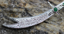 Shiny Silver Plated Sword Pendants, Zulfiqar Charm, Hz Ali Sword, 12x60mm Sword charms, Knife charms, Knife pendants, micropave charms, ZLFC