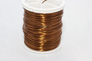Brown Wire 18, 20, 22, 26 and 28 Gauge Jewelry Wire, Wire Wrapping, Craft Wire, 16/28/60/92/155 Feet Artisan Wires, WRRI