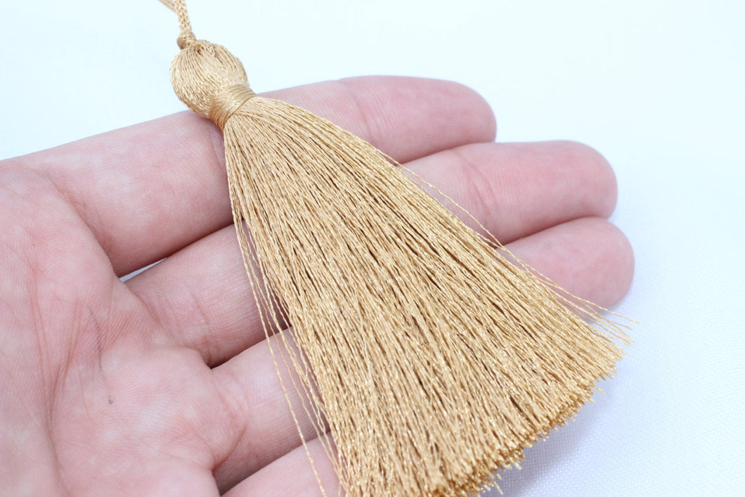 2/10/50 Pieces of premium quality 70 mm Milky Brown Silky Thread Tassels - High Quality Tassels PS 087