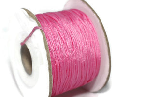 50 m / 55 yards 0.8 mm Nylon Chinese Knotting Cord, Pink Shamballa Macrame, Jewelry Supplies, 0 8mm Cord, Bracelet Making