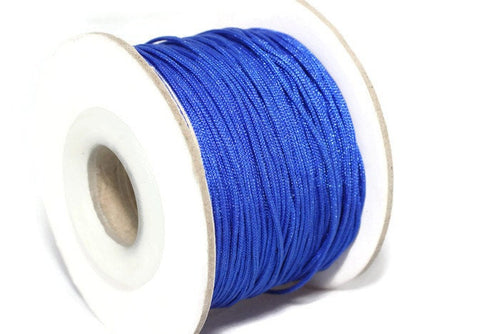 50 m / 55 yard 0.8 mm Nylon Chinese Knotting Cord, Duke Blue Shamballa Macrame, Jewelry Supplies, 0 8mm Cord, Bracelet Making
