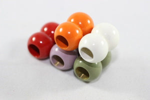 White Enameled Ball Magnetic Clasps 6,5 mm Inner, Solid Brass Magnetic Clasp for Leather and Cords
