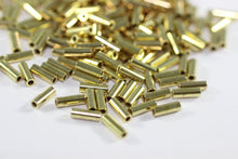 Gold Tone Tube Connectors 2x7mm, Mini Spacer Tubes, Tube Beads, Mini Spacers, Spacer Beads, Geometric beads, Bead spacers, Findings,
