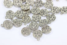 Silver Plated Round Charms, 10mm Star Charms, Silver plated / Silver coated, Coins, Star Coins, Disc charms, Round charms, Findings