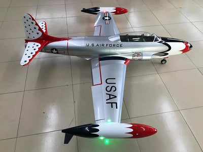 Due July 2021 GLOBAL AEROJET T-33 T-Birds Turbine Ready w/ Lights and Cockpit installed