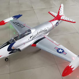 GLOBAL AEROJET T-33 Shooting Star 2M  US Thunderbirds 1/6 Scale Composite ARF