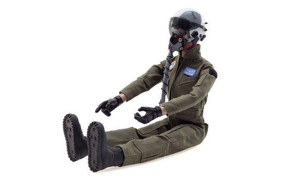 Global Aerojet 1:6 Green Highly Detailed Full Body Jet Pilot Figure