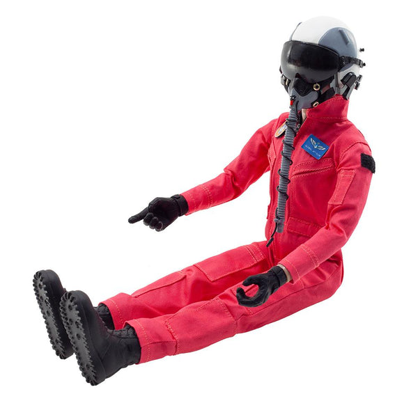 Global Aerojet 1:6 Red Highly Detailed Full Body Jet Pilot Figure