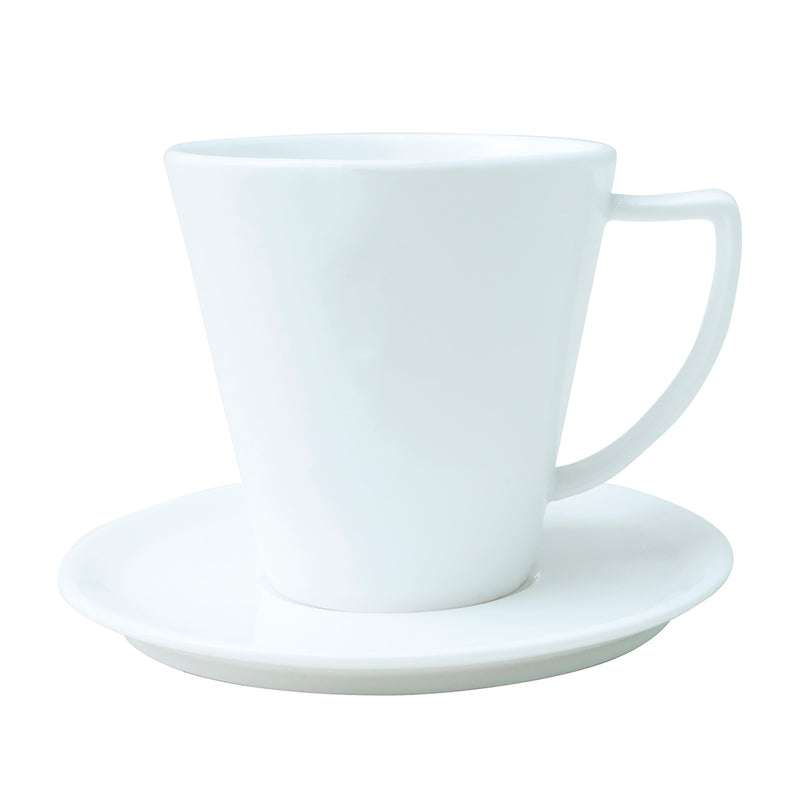 Taza para café Clasiq Porcelana Bone China Blanco 180 ml