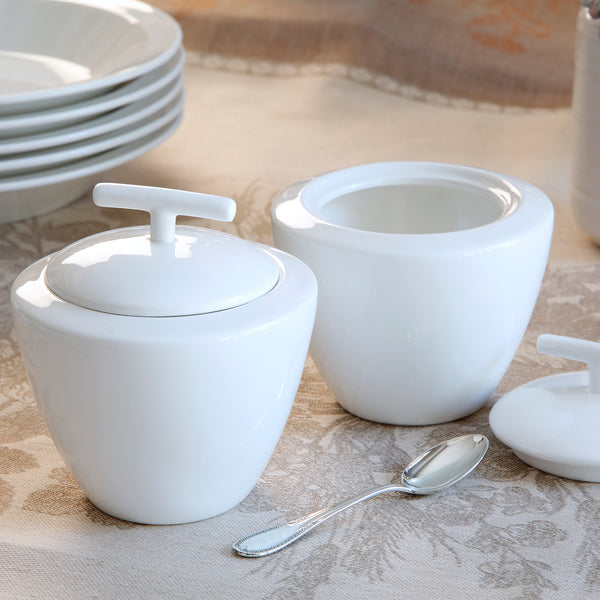 Azucarera Twig Porcelana Bone China Blanco