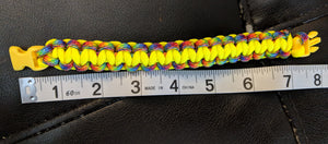 "7.5"" Adult Rainbow Paracord Bracelet / Anklet - Infants-&-Insulin-"