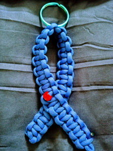 Diabetes Awareness Blue Ribbon Paracord Keychain - Infants-&-Insulin-