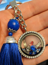 Silver Living Locket Floating Charms Diabetes Awareness Keychain with Tassel - Infants-&-Insulin-