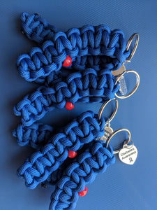Diabetes Awareness Paracord Ribbon Keychains - 4 pack Favor Diaversary Fundraiser Gifts - Infants-&-Insulin-