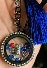Unique Black Living Floating Locket Keychain Diabetes Awareness - Infants-&-Insulin-