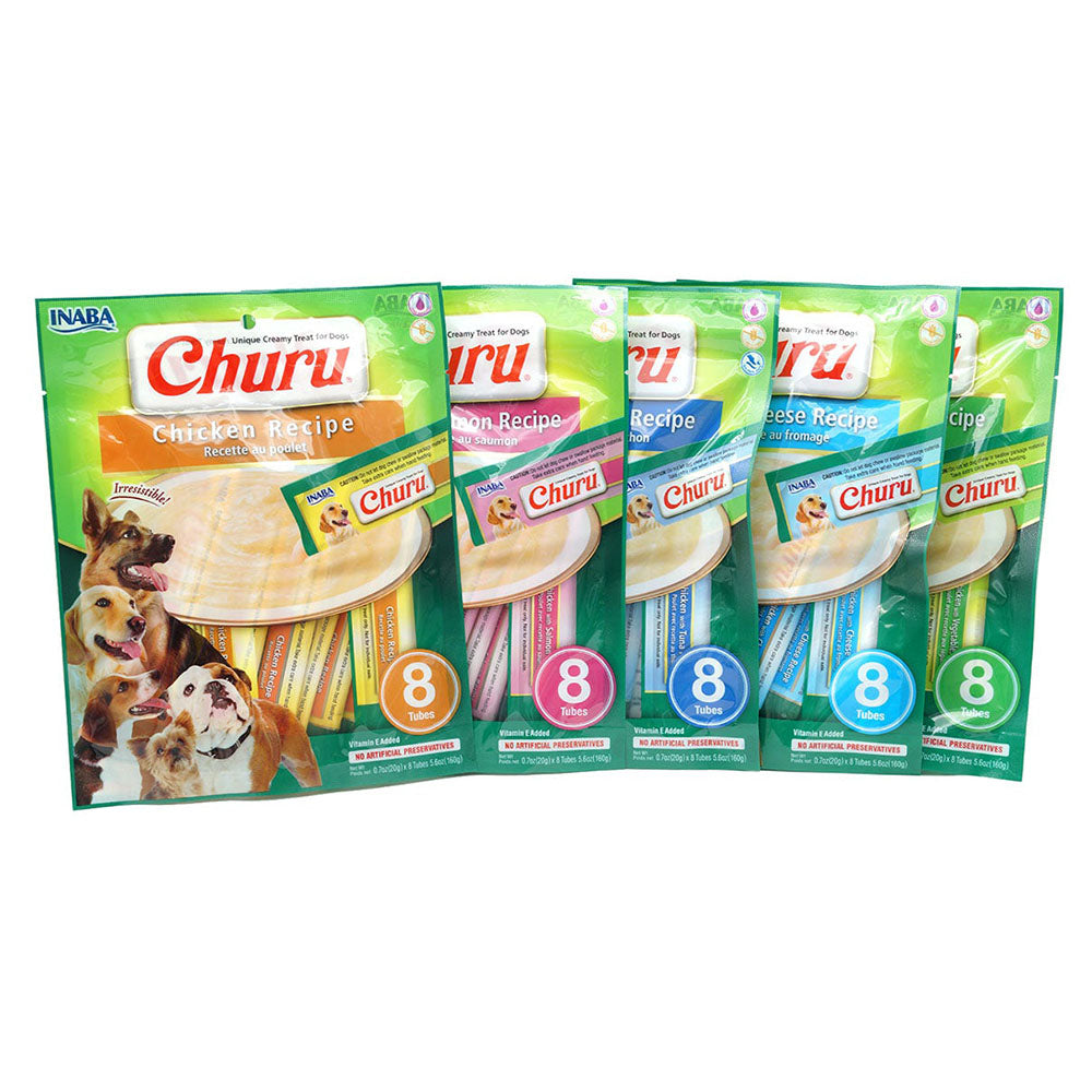 Snack Churu Pollo™ para Perros (8 tubos x paquete) - Just For Pets