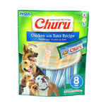 Snack Inaba Churu Pollo-Atún™ para Perros (8 tubos x paquete) - Just For Pets