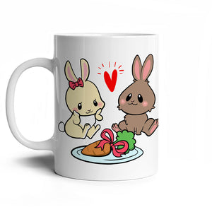 Taza 320CC Conejos San Valentín - Just For Pets