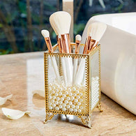 Organizer Handmade Cosmetic Brush Storage-Gold